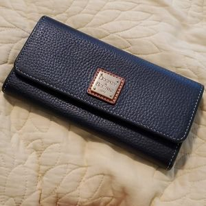 Dooney and Bourke Black Pebbled Leather Wallet